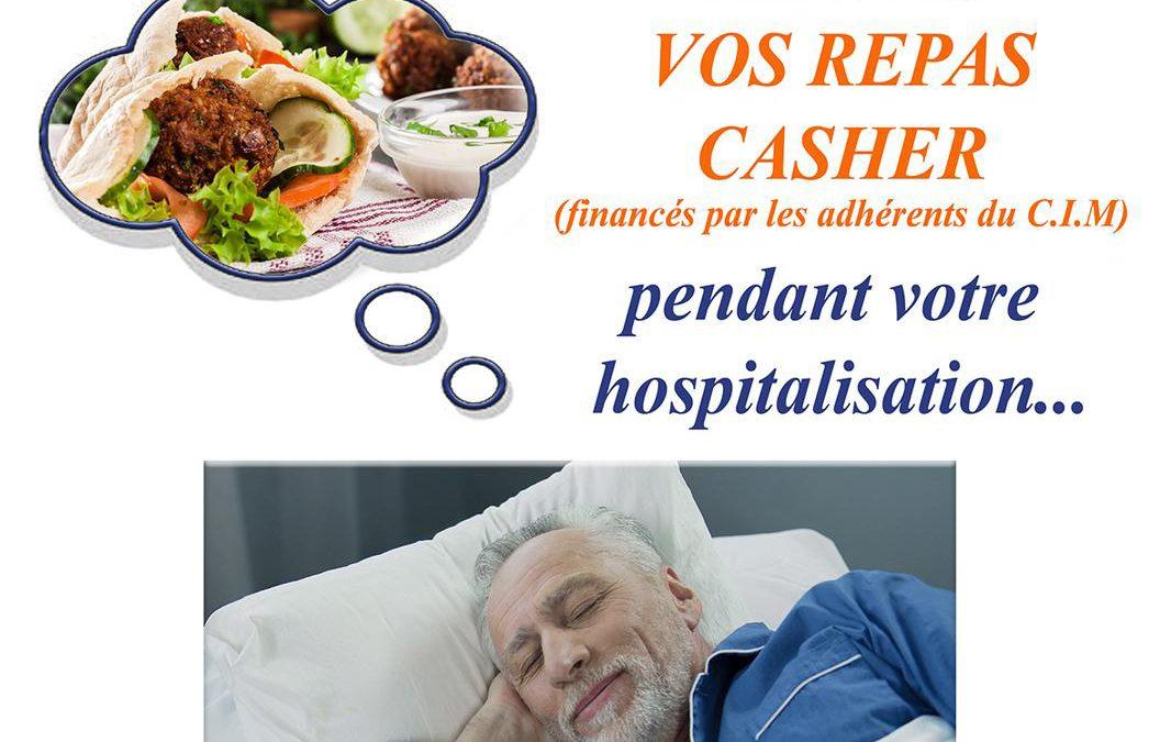 VOS REPAS CACHER LIVRES PENDANT VOTRE HOSPITALISATION