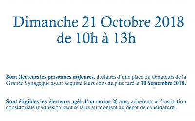 ELECTIONS DE LA GRANDE SYNAGOGUE