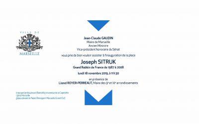 INAUGURATION PLACE JOSEPH SITRUK